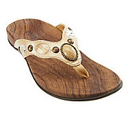 Orthaheel Carla Orthotic Thong Sandals w/ Jewel Detail - A221500