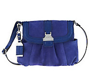 Tignanello Suede Crossbody Bag w/ Flap Closure - A216801