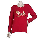 Quacker Factory White Christmas Sweater - A217301