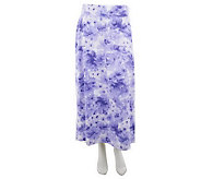 Denim & Co. Knit Floral Print Pull-On Maxi Skirt - A232701