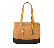 B. Makowsky Snake Embossed Leather Shopper with Zipper Pockets - A219002