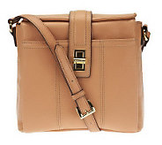 As Is Tignanello Pebble Leather Crossbody with Hardware - A238603