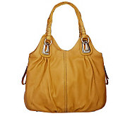 B. Makowsky Glove Leather Tote Bag with Side Zipper Pockets - A213308