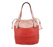 B. Makowsky Pebble Leather Drawstring Shopper - A229108