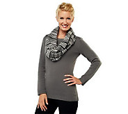 Liz Claiborne New York Crew Neck Sweater w/ Eternity Scarf - A228409