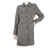Kris Jenner Kollection Houndstooth Button Front Coat - A228510