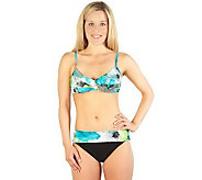 Simply Swim Spring Spray Twist Bra w/Sash Brief2-Pc Swimsuit - A324410