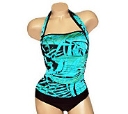Carol Wiors Slimsuit 4-Way Bandeau 1-Piece Swimsuit - A328710