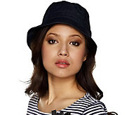 As Is Isaac Mizrahi Live! Denim Bucket Hat - A232912