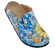 Birkis Shetland Summer Print Adjustable Backstrap Clogs - A227814