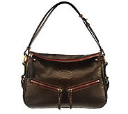 Dooney & Bourke Pearly Python Embossed Leather E/W Zip Sac - A229514
