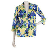 Linea by Louis DellOlio Notch Collar Floral Printed Blazer - A213219