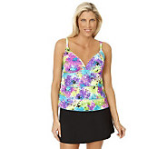 Ocean Dream Signature Flower Burst Tiered Tankini with Skirtini - A231620