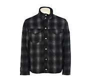 Chaps Mens Wool Plaid Jacket With Faux Shearling Inserts - A321920