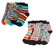 little missmatched CrazyCoordinate Stripes & Dots Crew Socks - A217021
