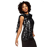 Joan Rivers Metallic Glam Sequin Scarf - A211123