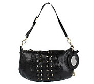 As Is Gretta Stud Detail Zip Closure Handbag - A223125