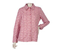 Denim & Co. Long Sleeve Floral Print Woven Shirt - A218926