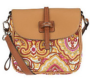 Tignanello Cotton Twill Crossbody Bag with Flap Closure - A231026