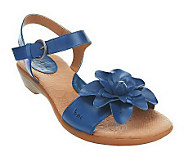 B.O.C. by Born Karlyn Leather Flower Detail Sandals - A221629