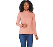 Denim & Co. Essentials Long Sleeve Mock Neck Top - A202931