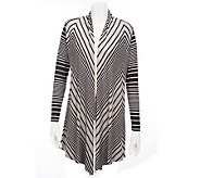 Kris Jenner Kollection Striped Open Front Cardigan - A227632