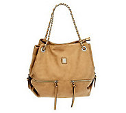 V Couture by Kooba Maddie Satchel w/ Woven Chain Shoulder Straps - A227035