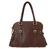 Dooney & Bourke Florentine Leather Domed Buckle Satchel - A222537