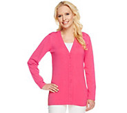 Linea by Louis DellOlio Whisper Knit V-Neck Cardigan - A233940