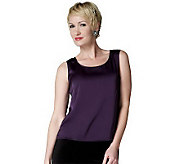 Joan Rivers Satin Stretch Tank - A214141
