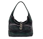 Dooney & Bourke Snakeskin Embossed Leather Pocket Sac w/Logo Lock - A234743