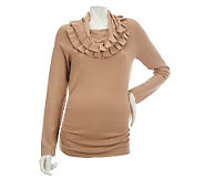 M by Marc Bouwer Cowl Neck Sweater Tunic w/Pleated Trim - A226644