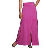 Jennifer Hudson Collection Crossover Maxi Skirt w/Front Slit - A232944
