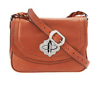 orYANY Leather Celeste Turnlock Shoulder Bag