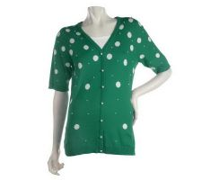 Quacker Factory Pearly Polka Dot Sweater Duet