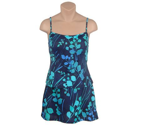 It Figures! Hip Hider Leafy Print Classic Skirtini