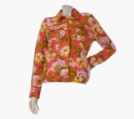 Isaac Mizrahi Live French Terry Denim Style Jacket   A222048