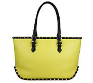 orYANY Leather Hera Tote with Stud Trim - A233948