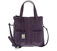 Tignanello Pebble Leather Convertible Crossbody with Braided Pockets - A229049