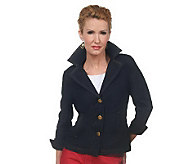 Joan Rivers Denim Signature Jacket with Ruching Detail - A221951