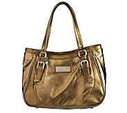 As Is Judith Ripka Sutton Nappa Leather E/W Satchel - A228151