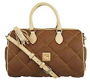 Dooney & Bourke Quilted Fabric Classic Satchel With Zipper Tassel Detail - A215652