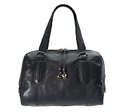 B. Makowsky Glove Leather Satchel with Woven Braided Detail - A221254