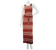 Nicole Richie Collection Mosaic Tie Dye Print Knit Maxi Dress - A233556