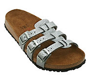 Birkis Xenia Dynamic Footbed Embossed Triple Strap Sandals - A232658