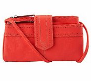Tignanello Pebble Leather East/West Perforated Crossbody - A234159