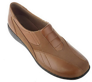 Clarks Bendables Bingo Leather & Nubuck Front Gored Shoes
