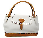 Dooney & Bourke Florentine Leather Flap Satchel - A222461