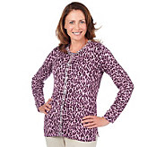 Quacker Factory Animal Print Cardigan - A216562