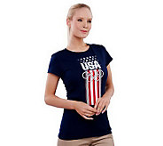 Team USA Womens USA Rings Short Sleeve T-shirt - A227862